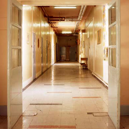 'Corridor II', Photographic Lambdachrome print mounted on acrylic, 100 x 100 cm