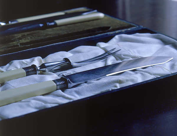 'Carving Set', Photographic Lambdachrome print, acrylic mounted, 56 x 70 cm