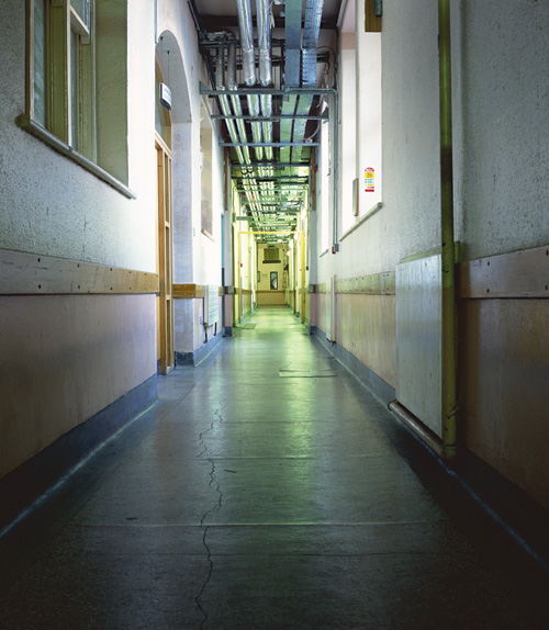 'Corridor I', Photographic Lambdachrome print mounted on acrylic, 140 x 122 cm