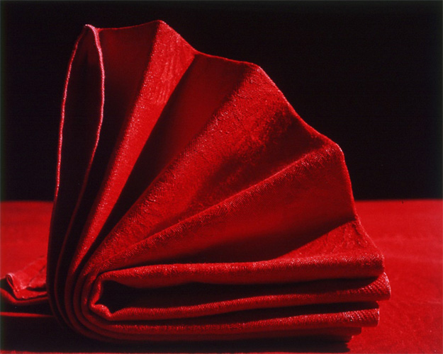 'Napkins VI', Cibachrome colour print mounted on alluminium under acrylic glass, 56 x 70cm